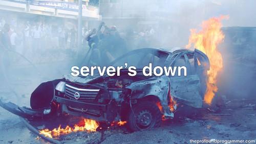 ¿Server down? Tranqui! Te ayudamos :)